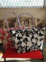 kate spade new york Flower Patterns Casual Style A4 Leather Totes