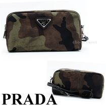 PRADA Camouflage Pouches & Cosmetic Bags