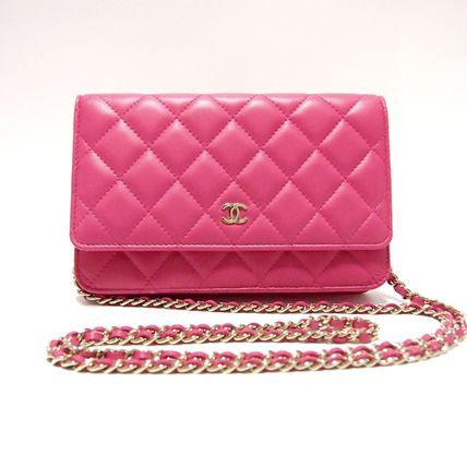 CHANEL Shoulder Bags Lambskin 3WAY Plain Party Style Shoulder Bags