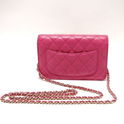 CHANEL Shoulder Bags Lambskin 3WAY Plain Party Style Shoulder Bags 3