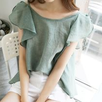Casual Style Plain Shirts & Blouses