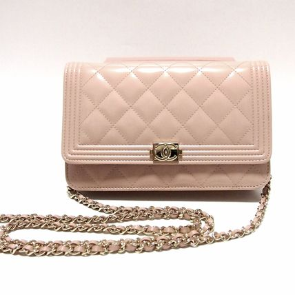 CHANEL Shoulder Bags 3WAY Plain Leather Party Style Shoulder Bags
