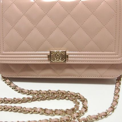 CHANEL Shoulder Bags 3WAY Plain Leather Party Style Shoulder Bags 2