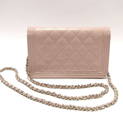 CHANEL Shoulder Bags 3WAY Plain Leather Party Style Shoulder Bags 3