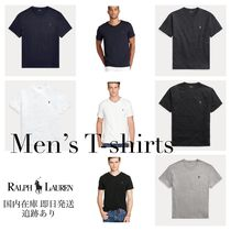 Ralph Lauren Crew Neck Plain Cotton Short Sleeves T-Shirts