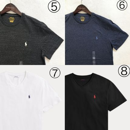 Ralph Lauren More T-Shirts Crew Neck Plain Cotton Short Sleeves T-Shirts 3