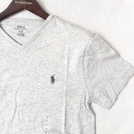 Ralph Lauren More T-Shirts Crew Neck Plain Cotton Short Sleeves T-Shirts 14