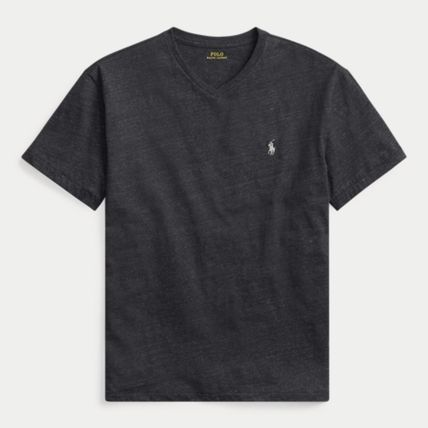 Ralph Lauren More T-Shirts Crew Neck Plain Cotton Short Sleeves T-Shirts 15