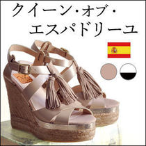 Kanna Leather Platform & Wedge Sandals