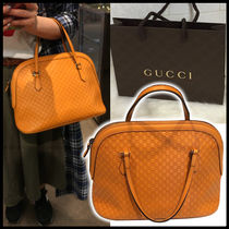 GUCCI Street Style Leather Party Style Handbags