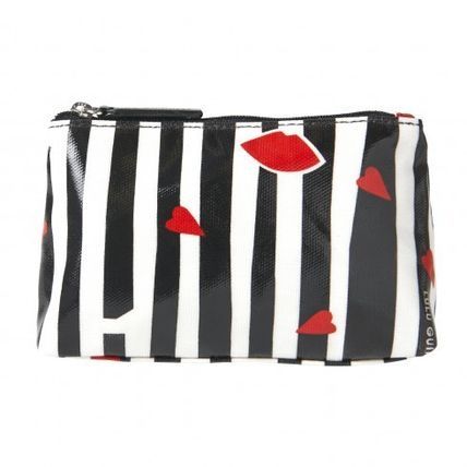 Stripes Heart Pouches & Cosmetic Bags