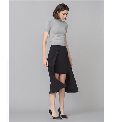 Flared Skirts Plain Office Style Skirts