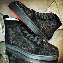 Christian Louboutin LOUIS Suede Plain With Jewels Sneakers
