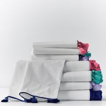Pottery Barn Plain Pillowcases Fitted Sheets Ethnic Flat Sheets