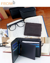 Street Style Other Animal Patterns Leather Folding Wallets
