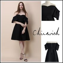 Chicwish Short A-line Plain Party Style Dresses