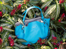 TOD'S Tod's small 'Flower' tote turquoise