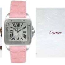 Cartier TANK Blended Fabrics Leather Square Elegant Style Digital Watches