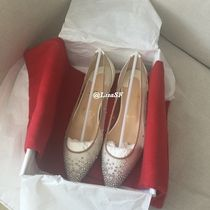 Christian Louboutin Blended Fabrics Leather Party Style With Jewels
