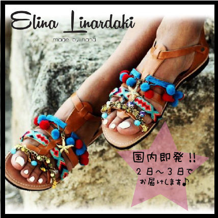 Open Toe Casual Style Leather Handmade Sandals Sandal