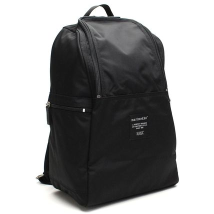 Casual Style Nylon A4 Plain Backpacks