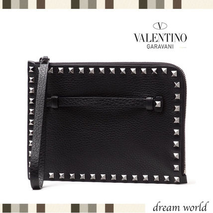 VALENTINO Studded Leather Clutches