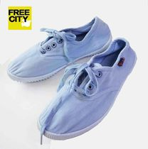 FREE CITY Platform Plain Toe Casual Style Plain