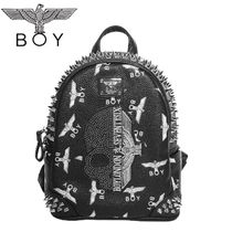 BOY LONDON Faux Fur Studded Backpacks