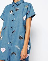 LAZY OAF Tropical Patterns Casual Style Street Style Cotton Long