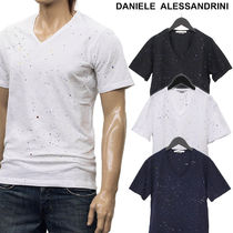 DANIELE ALESSANDRINI V-Neck Cotton Short Sleeves V-Neck T-Shirts