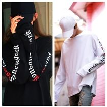 ATAR Unisex Street Style Long Sleeves Cotton Oversized T-Shirts