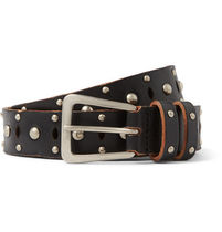 Saint Laurent Saint Laurent studdedleather belt black