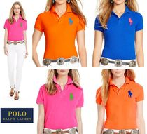 Ralph Lauren Casual Style Plain Cotton Short Sleeves Polo Shirts