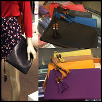 GUCCI Street Style Leather Party Style Clutches