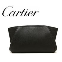 Cartier Plain Leather Clutches