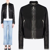 VALENTINO 16-17 AW V372 ROCKSTUD UNTITLED LEATHER JACKET