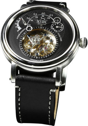 Plain Leather Mechanical Watch Analog Watches