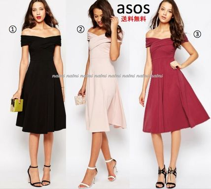 ASOS Flared Plain Cotton Medium Party Style Dresses