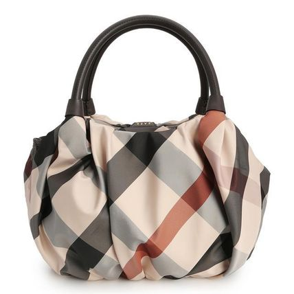 Gingham Glen Patterns Casual Style Street Style 2WAY Leather