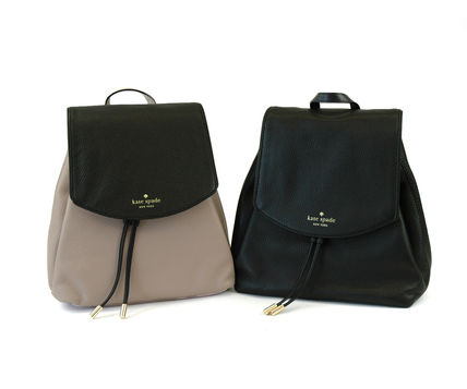 kate spade new york Bi-color Plain Leather Backpacks