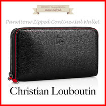 Christian Louboutin Panettone  Plain Leather Long Wallets