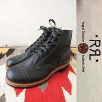 RRL Straight Tip Plain Leather Boots