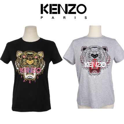 Casual Style Street Style U-Neck Other Animal Patterns