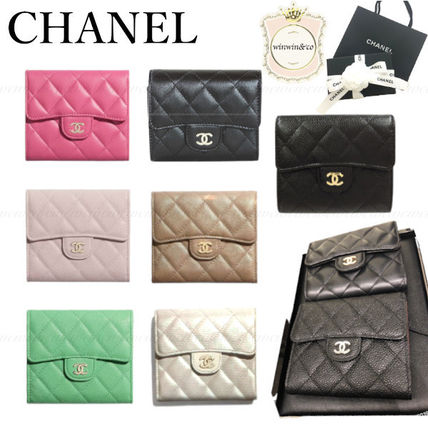 CHANEL MATELASSE Small Wallet Lambskin Folding Wallets