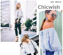Chicwish Stripes Casual Style Bandeau & Off the Shoulder