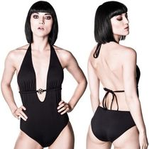 KILL STAR Street Style Plain Swim One-Piece