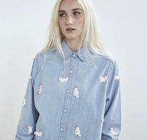 LAZY OAF Casual Style Denim Street Style Long Sleeves