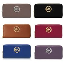 Michael Kors Plain Leather Long Wallets