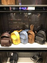 Coach Plain Leather Backpacks