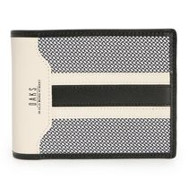 DAKS Gingham Street Style Plain Leather Folding Wallets